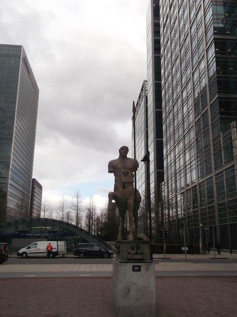 Centauro Bronze Statue, Canary Wharf, Isle of Dogs