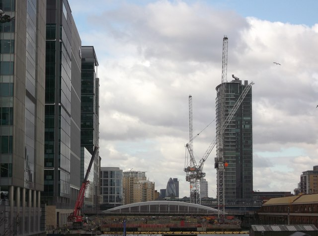Construction site in West India Dock