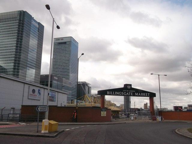 Entrance to Billingsgate Market