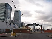 TQ3880 : Entrance to Billingsgate Market by David Anstiss