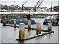 NZ2563 : Vessel Collision Protection, Gateshead Millennium Bridge by Andrew Curtis