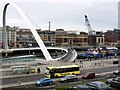 NZ2563 : Gateshead Millennium Bridge during removal of Vessel Collision Protection System by Andrew Curtis