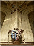 ST6316 : Sherborne: a figure in the abbey nave by Chris Downer