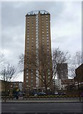TQ3581 : Tower block, Commercial Road E1 by Robin Sones