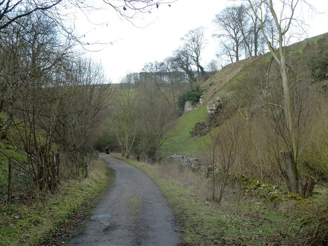 Track heading up Coombs Dale