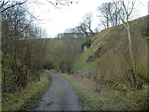 SK2274 : Track heading up Coombs Dale by Andrew Hill