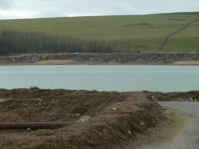 Lake in former mining area on Longstone Moor