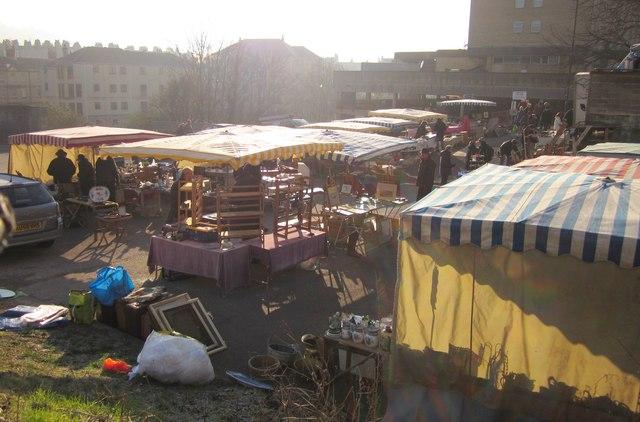 Flea market, Walcot Street, Bath