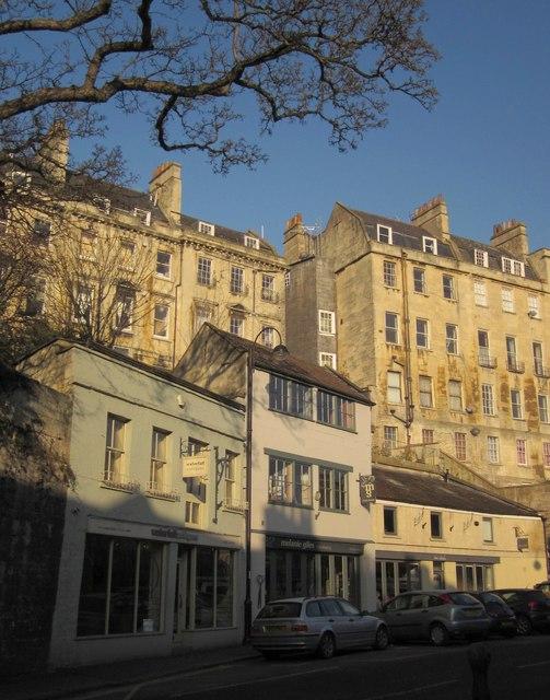 Houses above Walcot Street, Bath
