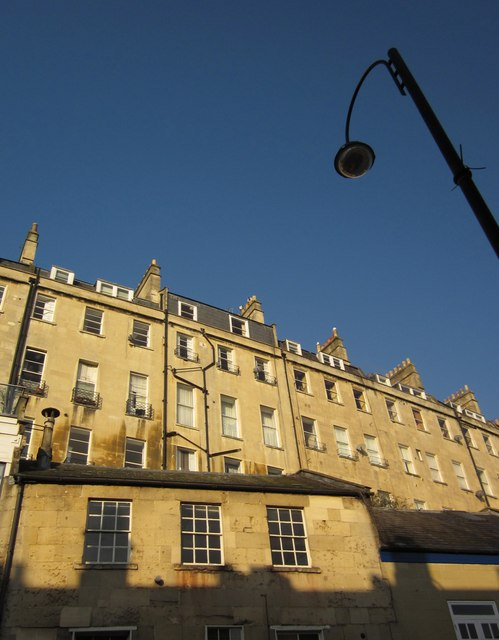 Buildings on and above Walcot Street, Bath