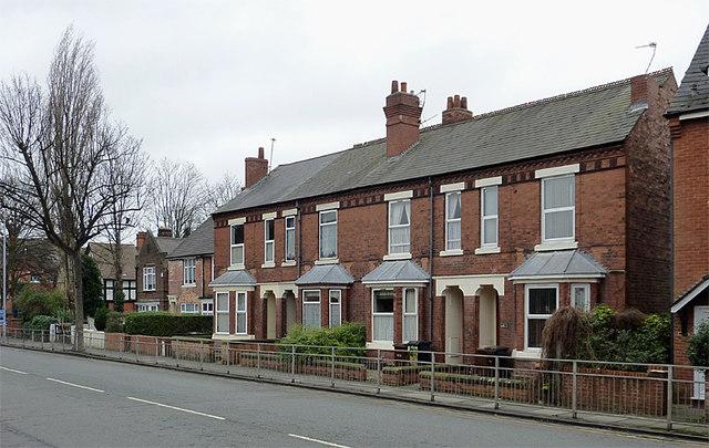 Terraced housing in Bilston, Wolverhampton
