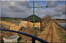 SY2591 : East Devon : Bird Hut & Tram Track by Lewis Clarke