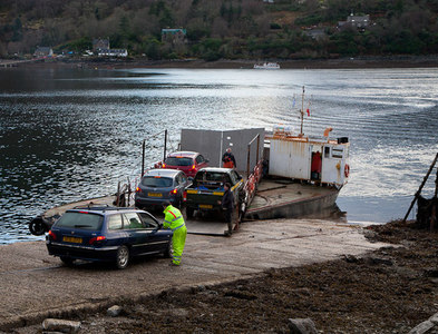 NG8635 : Ferry at North Strome by Roy Tait