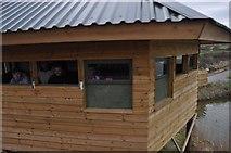 SY2591 : East Devon : Bird Watching Hut by Lewis Clarke