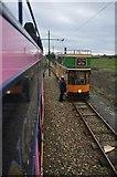 SY2591 : East Devon : Seaton Tramway by Lewis Clarke