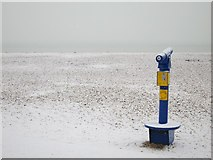 TQ8109 : Telescope on Pelham Beach by Oast House Archive