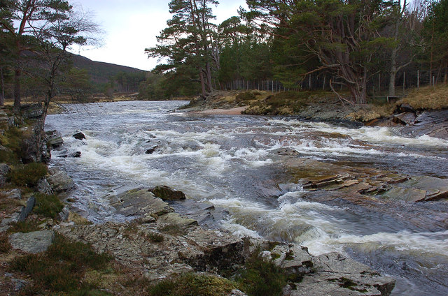Rapids on the Dee near Inverey