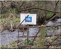 J1532 :  EFTA sign by the Clanrye River by Eric Jones