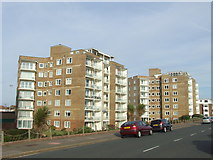 TQ7306 : Flats on the seafront, Bexhill by Malc McDonald
