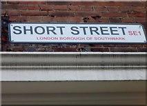 TQ3179 : Street sign, Short Street SE1 by Robin Sones