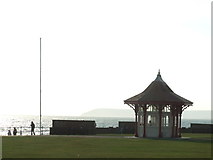 TQ7407 : Seafront shelter and flagpole, Bexhill by Malc McDonald