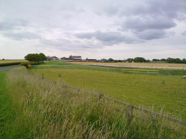 Sedgefield racecourse from the North