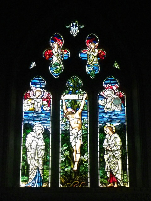 Stained glass window, St Gregory's Church