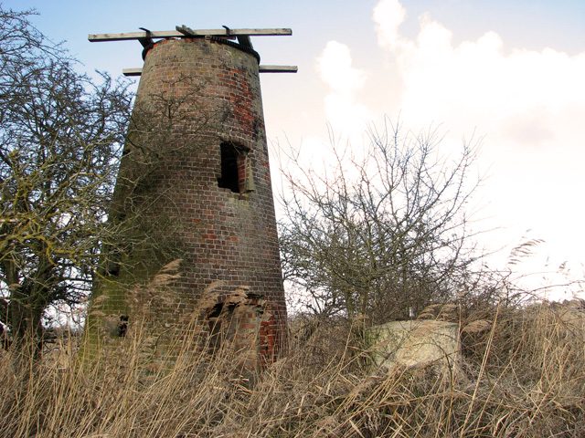 Ludham Bridge mill - WWII strongpoint beside the River Ant