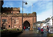 NY4055 : Carlisle Citadel's West Tower by Mary and Angus Hogg