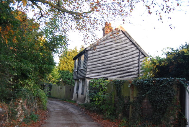 Weatherboarded cottage, The Drove