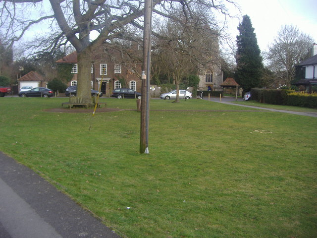 The village green and church, Walton-on-the Hill