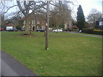 TQ2255 : The village green and church, Walton-on-the Hill by David Howard