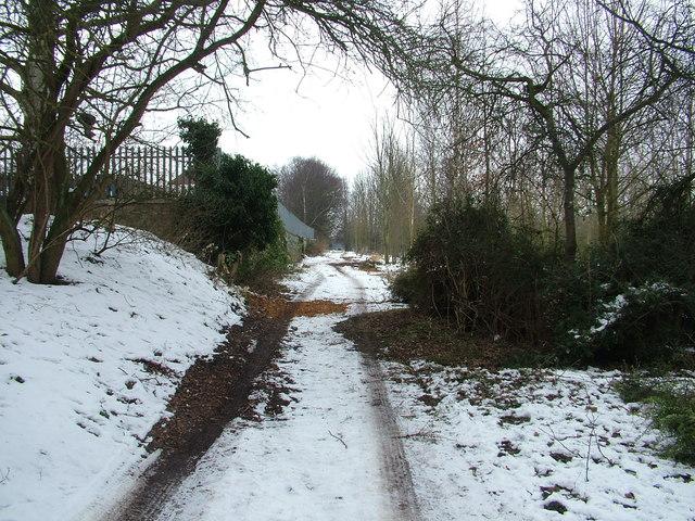 Path behind King Edward VI school, in the snow
