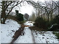 TL8464 : Path behind King Edward VI school, in the snow by John Goldsmith