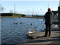 NZ3670 : Tynemouth Boating Lake by Christine Westerback