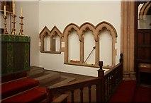 TQ2382 : St Martin, Mortimer Road, Kensal Rise - Piscina & sedilia by John Salmon