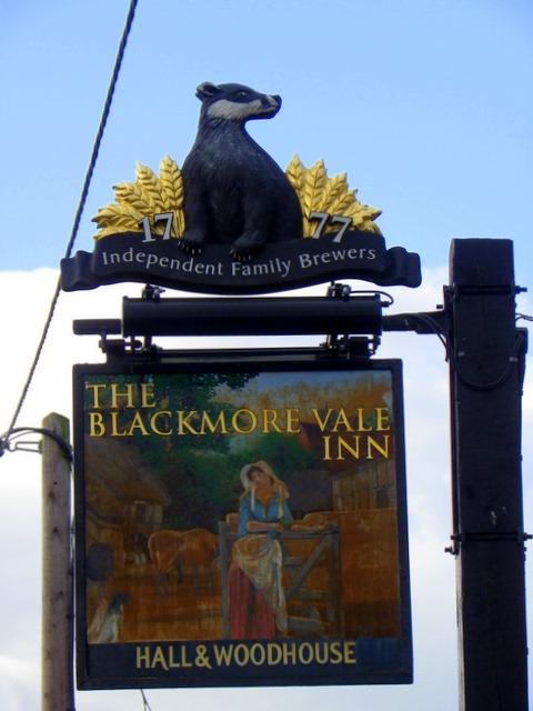 Sign for the Blackmore Vale Inn