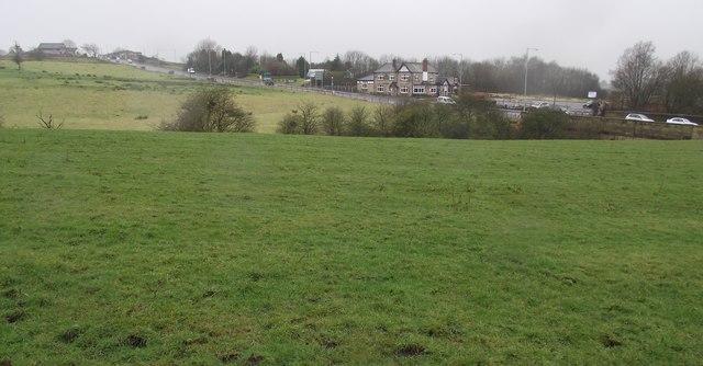Farmland by the A58