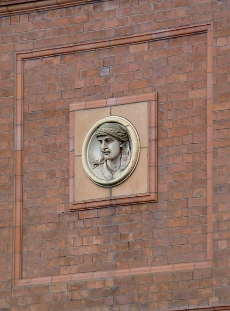 Bilston Technical School (detail) in Bilston, Wolverhampton