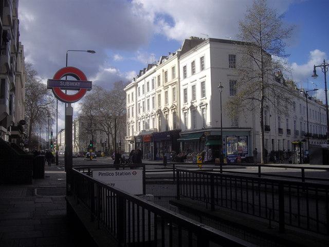 Subway entrance to Pimlico Underground Station