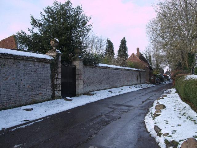 Walls of former Rectory, Church Lane, Mildenhall