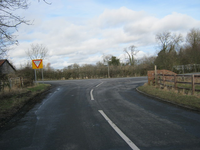 Minor road joining the Great Stainton to Bishopton road