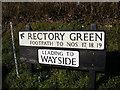 TM3877 : Rectory Green sign by Geographer