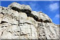 SH7583 : Rock formation on the Great Orme by Jeff Buck