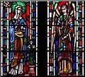 TQ2573 : St Barnabas, Merton Road, Southfields - Stained glass window by John Salmon