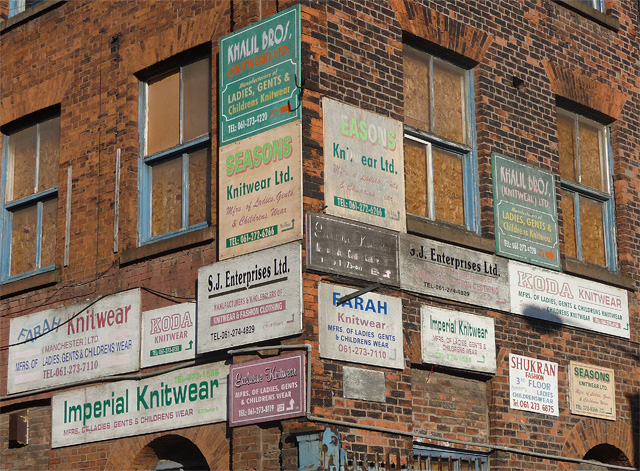 Detail of Crusader Works, Chapeltown Street, Manchester