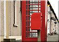 J2865 : Letter box and telephone box near Lambeg by Albert Bridge