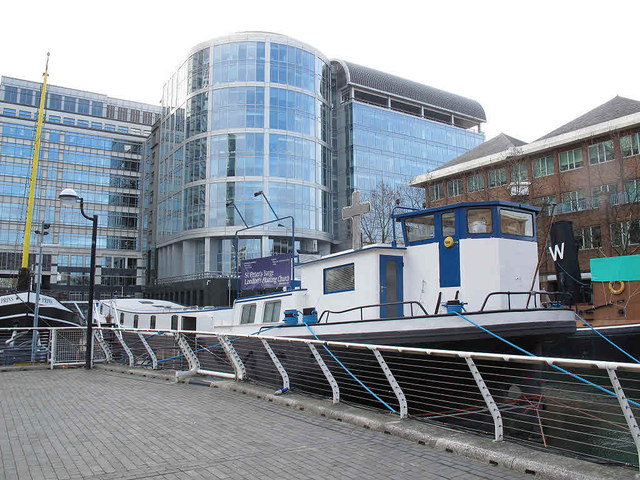 The floating church in Docklands