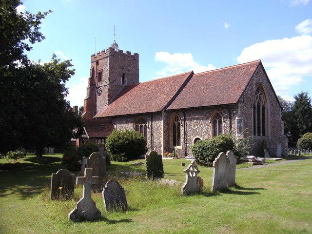 St Martin's church, Little Waltham, Essex