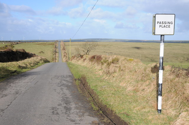 Passing place on Roughtor Road